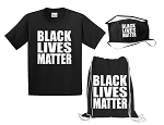 Black Lives Matter Bundle (Tee, Cinch Bag & Mask)
