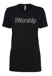 IWorship  Next Level Rhinestone Short Sleeve Tee