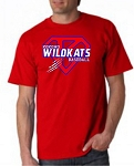 Wildkat Superman Baseball  Adult Tee
